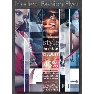 Modern fashion flyer - collage style