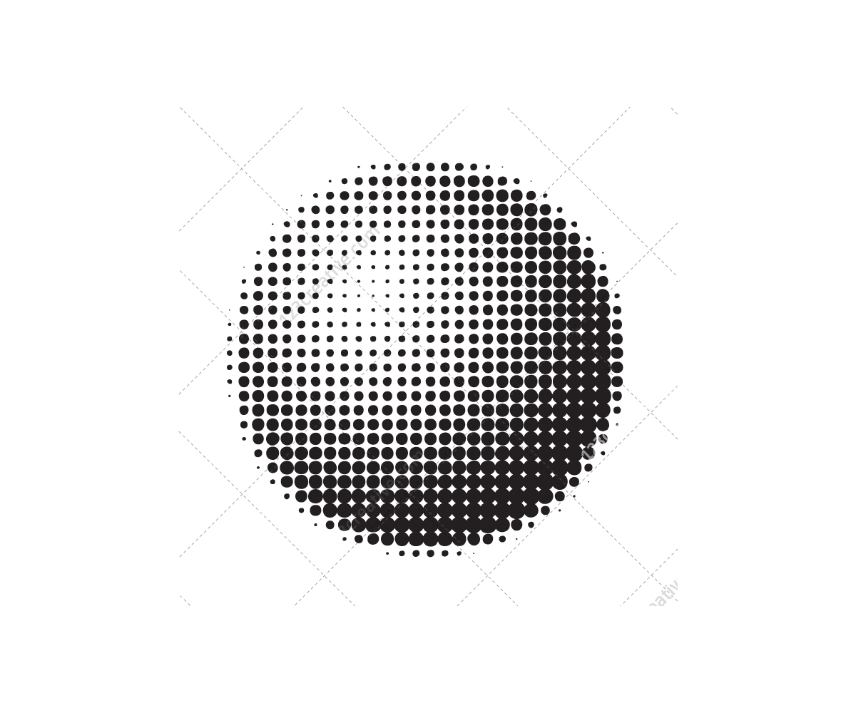Halftone Graphic Elements And Shapes