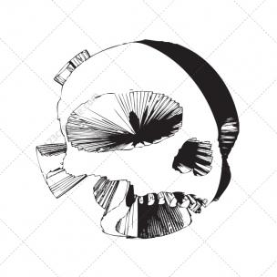 Futuritic skulls vector pack