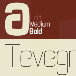 Tevegraphy - font family