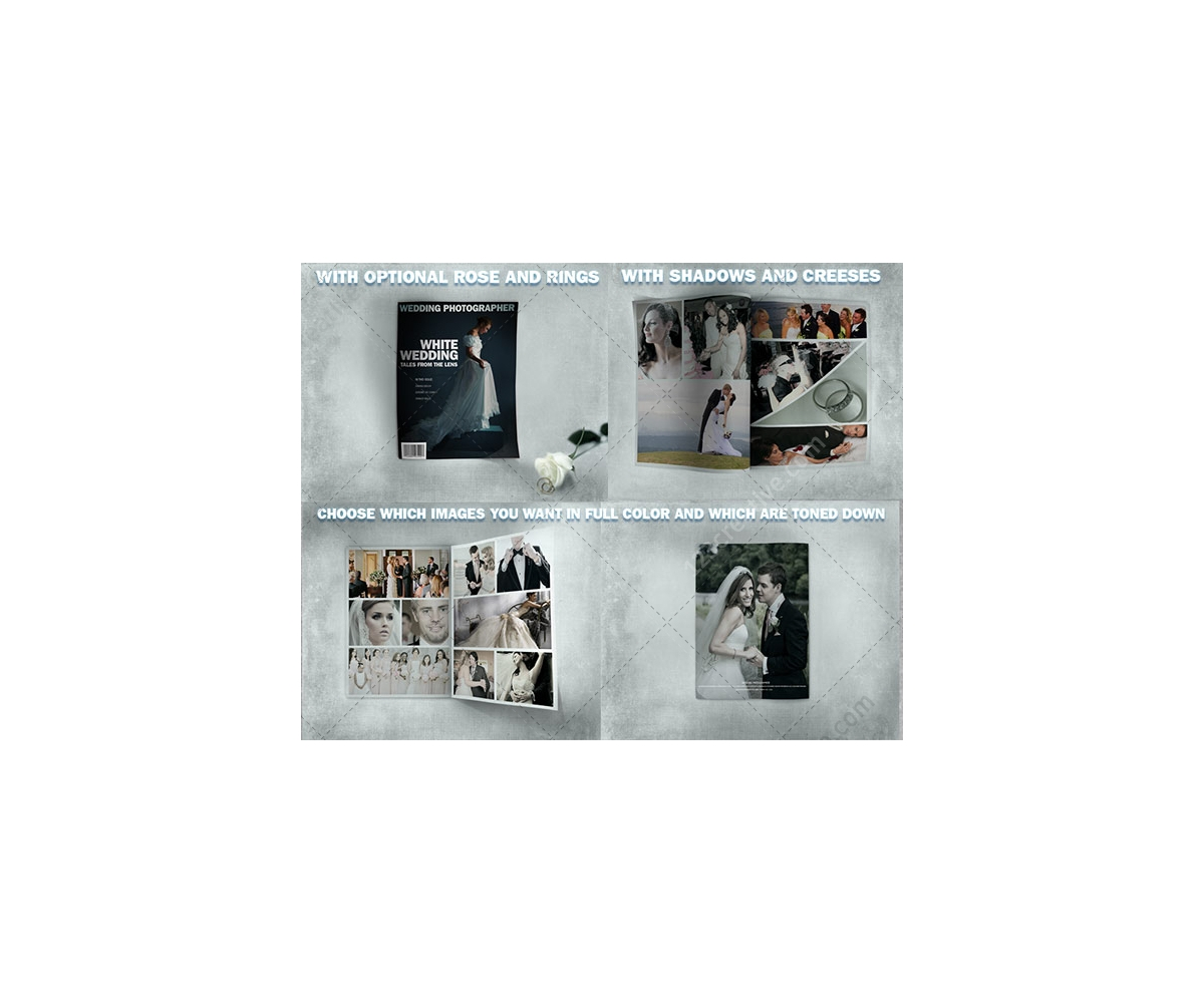 Wedding album mock-up – buy mock up template, ideal for designers or ...