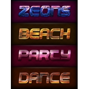 party layer styles, disco flyer headline, disco text effect, beach styles, dance styles for photoshop