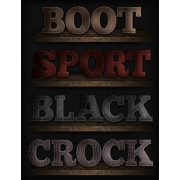 clothing store text style, men styles, red photoshop style, dark styles