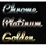 metal layer styles, photoshop metallic styles, shiny metal styles pack