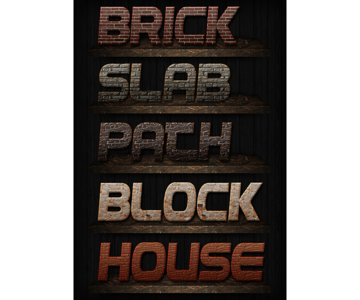 Buy layer styles for photoshop brick styles stone wall for Brick types and styles