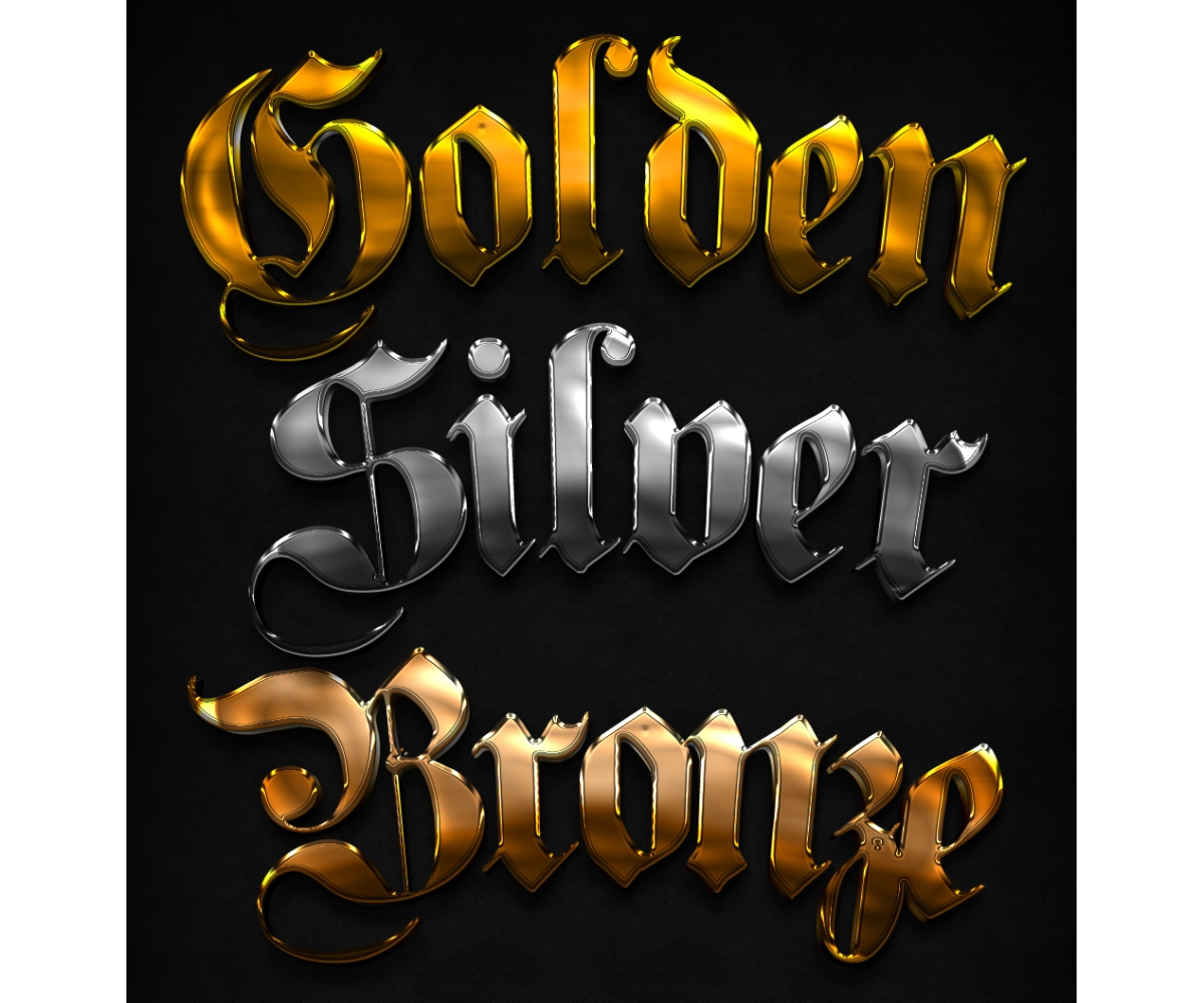 Metal And Chrome Styles For Photoshop Shiny Text Effect Hip