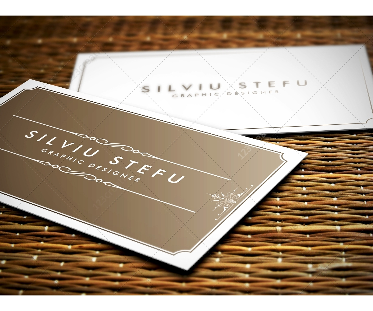 Business card mock ups – mock up with natural