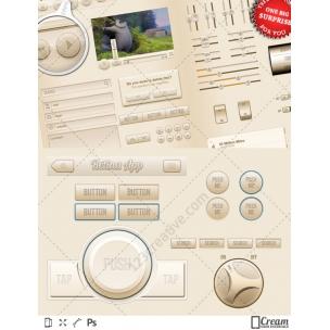 Cream UI - mobile interface kit