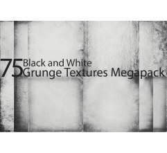 75 Black and white grunge textures MegaPack (digitized)