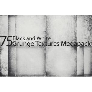 75 Black and white grunge textures MegaPack (digitized)