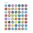 hexigon icons, Twitter, Facebook, Dribbble, Behance, Dunked, Linkedin, Pinterest, Google Plus