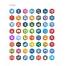 hexigon icons, Twitter, Facebook, Dribbble, Behance, Dunked, Linkedin, Pinterest, Google Plus