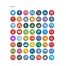 round icons, rounded icon, RSS, Instagram, Blogger, Deviant Art, Picasa, Wordpress, Vimeo, Stumble Upon, Tumblr, Forrst, Reddit