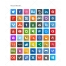 rounded square icons, round border icon, Skype, Dropbox, Youtube, Flattr, Evernote, Paypal, Safari, Opera, Chrome