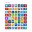 rounded square icons, round border icon, Skype, Dropbox, Youtube, Flattr, Evernote, Paypal, Safari, Opera, Chrome