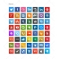 square icons, Apple, Windows, Joomla, Flash, Dreamweaver, inDesign, Illustrator, Photoshop