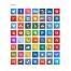 square icons, Apple, Windows, Joomla, Flash, Dreamweaver, inDesign, Illustrator, Photoshop