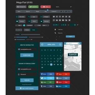 Mega Flat UI Kit