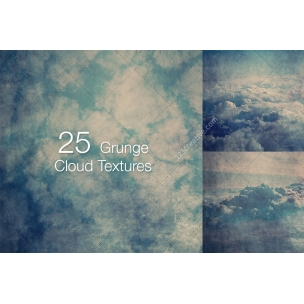 25 Grunge cloud texture pack (digitized)