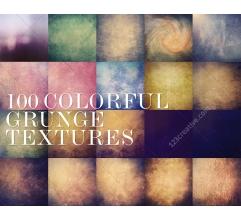 100 Colorful grunge texture MegaPack (digitized)