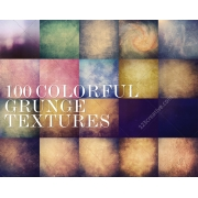 Colorful grunge texture pack, backgrounds for graphic design