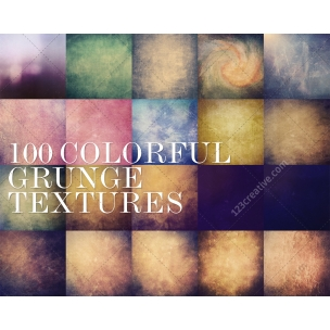 100 Colorful grunge texture MegaPack (digitized)