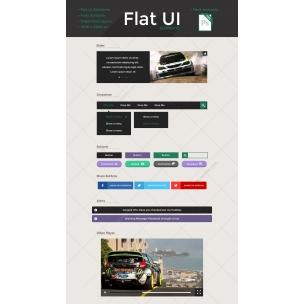 Simple Flat UI Kit