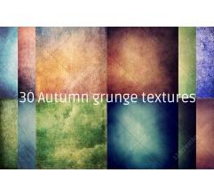 30 Autumn grunge texture pack (digitized)