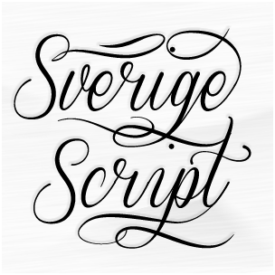 Sverige Script - font family