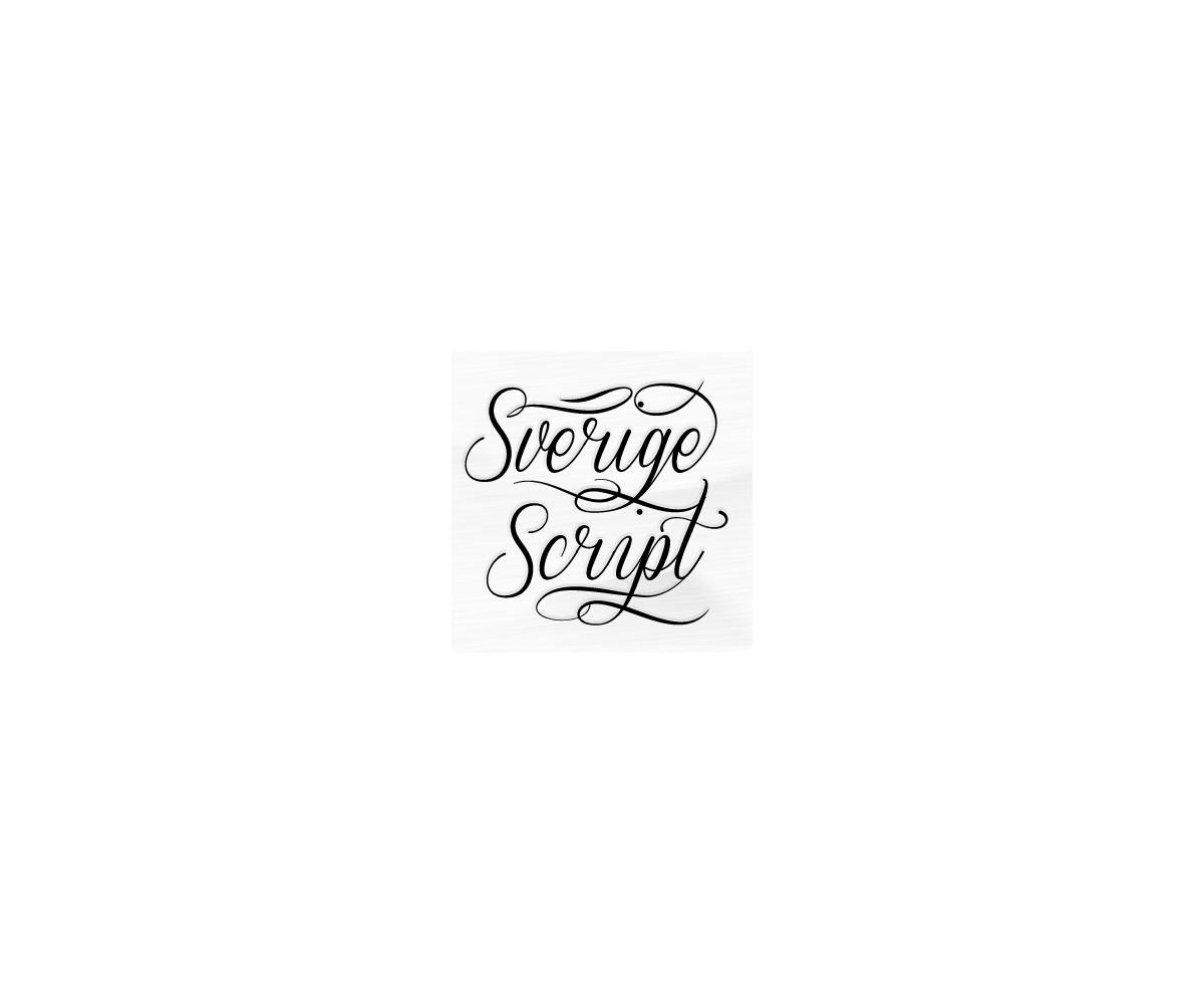 Sverige Script - font family - 123creative com