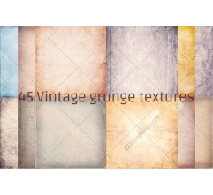 45 Vintage grunge texture pack (digitized)