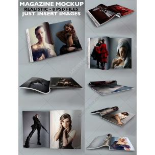 8 Page Magazine Mockup