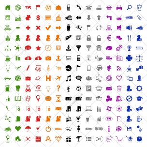 196 Icons in 8 colors