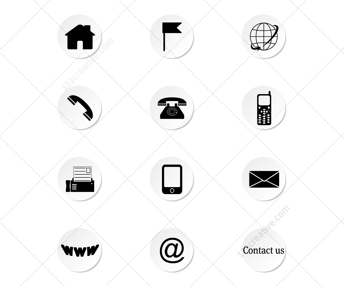 Contact Icons Set 123creative Com