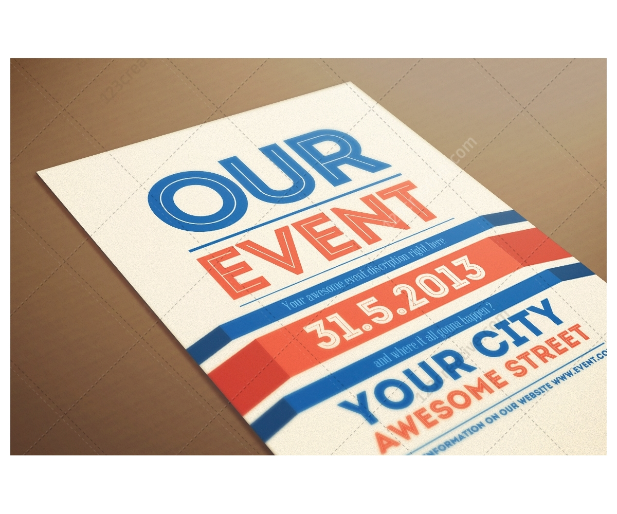 Our Event Flyer template modern clean and minimal poster design – Event Flyer Examples