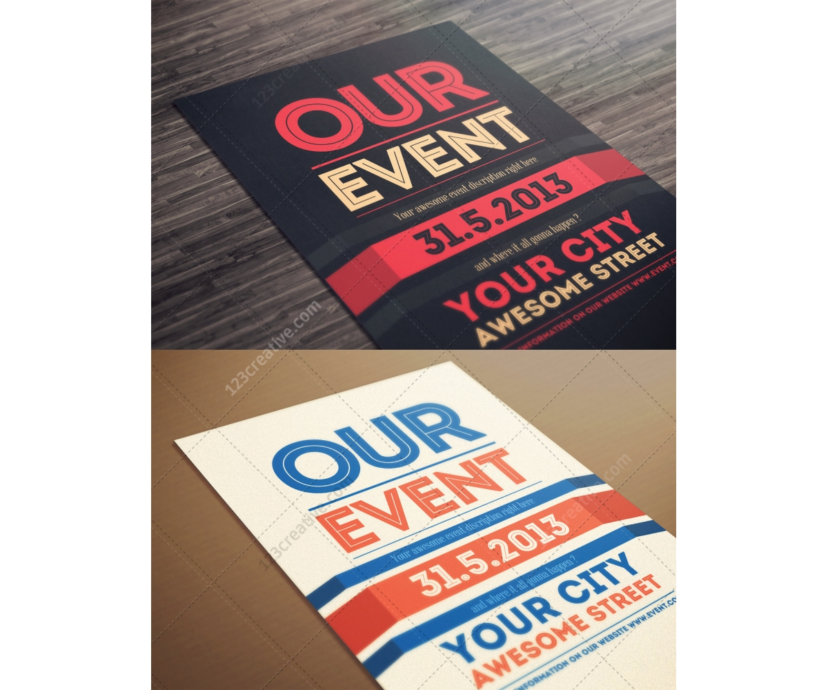 Our Event Flyer template modern clean and minimal poster design – Flyer Samples