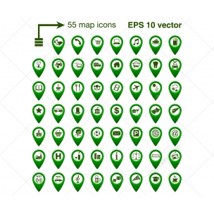 55 Map vector icons