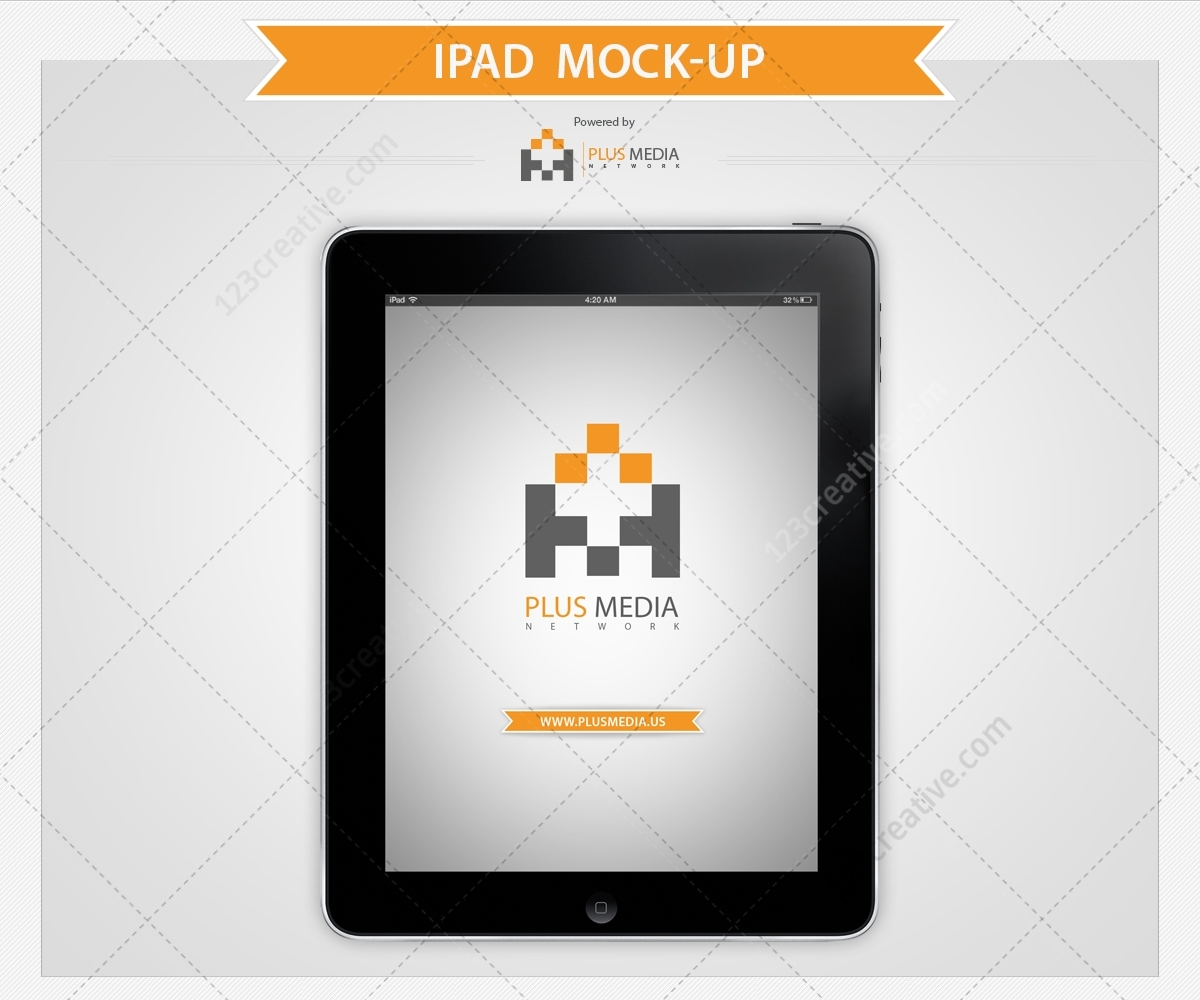 Present Your Product, Website On Ipad Display. Use Ipad
