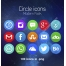 circle icons, modern icon set, social media icons