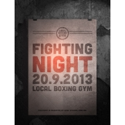 psd flyer template, boxing, fighting, sport, racing, wrestle, championship