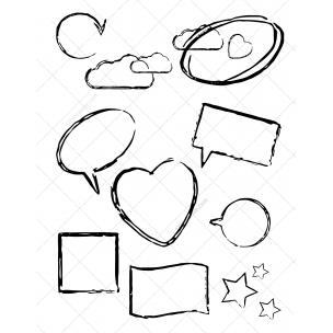 Scribble shapes - vectors