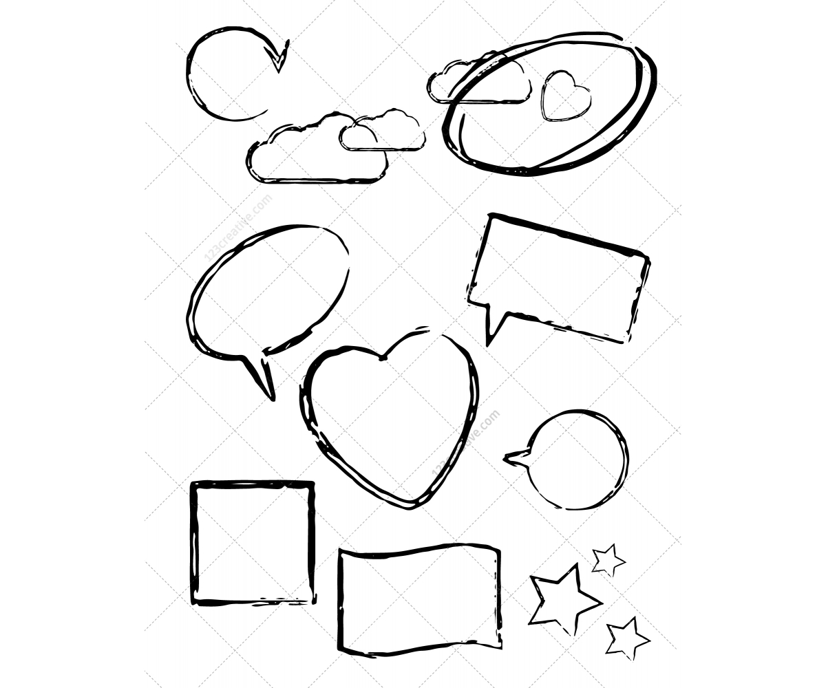 Cloud Shapes Drawing Hand Drawn Vector Shapes