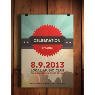 Celebration Flyer PSD template