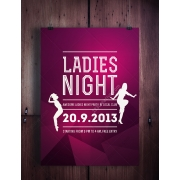ladies night flyer template, night club flyer template