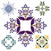 floral ornament vectors