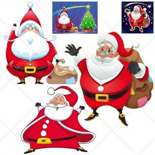 Mix Santa Claus vector pack