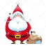 santa with full bag of gifts