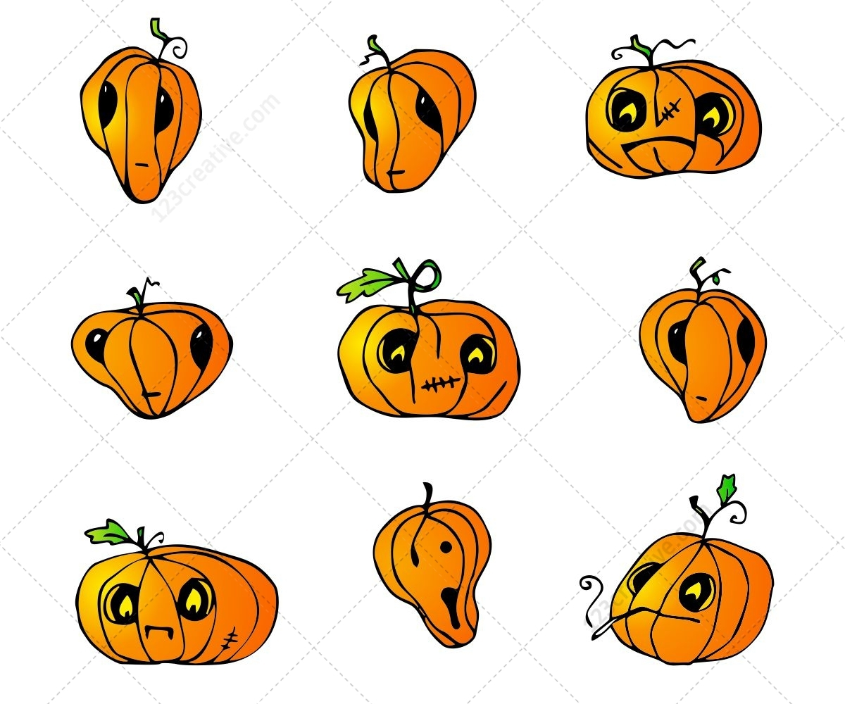 Halloween Pumpkins Vector Pack Special Collection Of