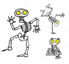 Halloween Skeletons vector pack