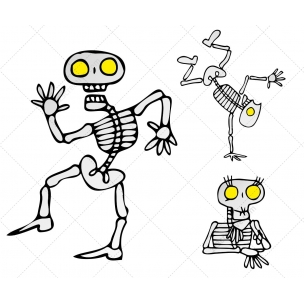 Halloween Skeletons vector pack